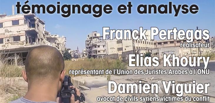 Conférence sur la Syrie avec projection d'un documentaire
